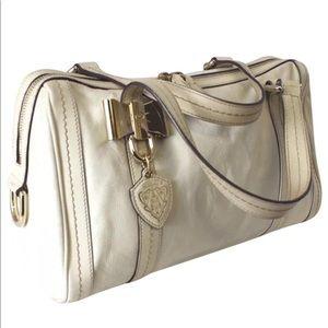Authentic Gucci Vintage satchel white leather Bag